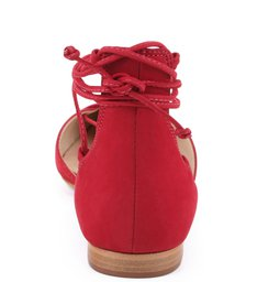 Sapatilha Bico Fino Lace Up Red