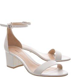 Sandália Minimal Block Heel White