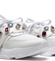 Dad Sneaker Glam Stones White