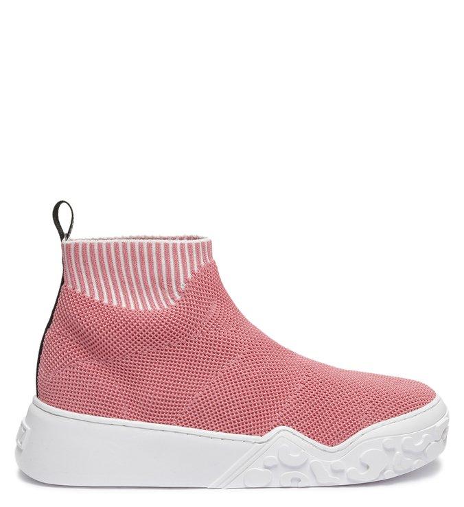 Tênis Cano Alto Bold Knit Rosa