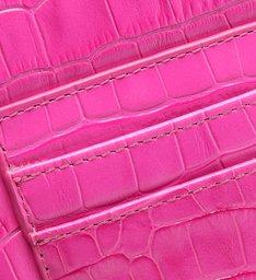 Bolsa Tiracolo Pequena Believe Croco Pink