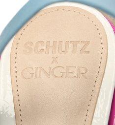 Schutz x Ginger Sandália Multistraps Vibrante