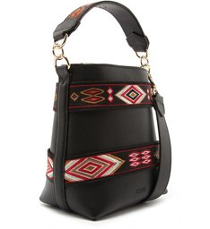BUCKET BAG ETHNIC BLACK
