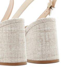 Sandália Block Heel Natural Cru