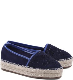 Espadrille Flatform Dress Blue