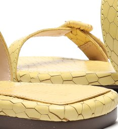 Slide Buckles Snake Yellow