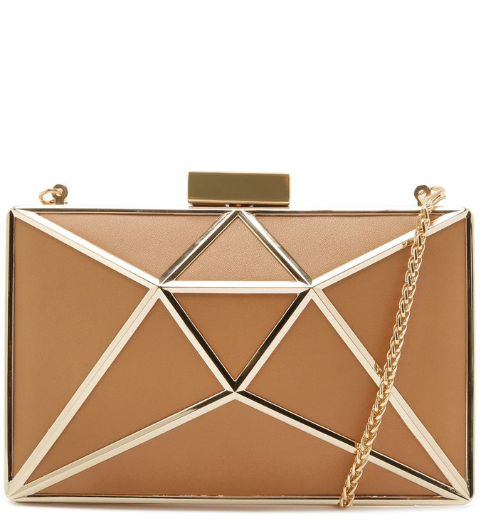 CLUTCH CRISTAL LEATHER HONEY