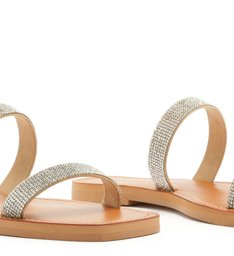 SLIDE DOUBLE STRAP STRASS CRISTAL