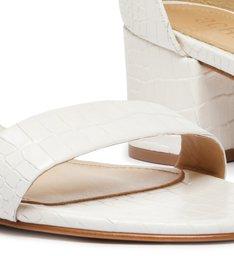 Sandália Block Heel Croco Pearl