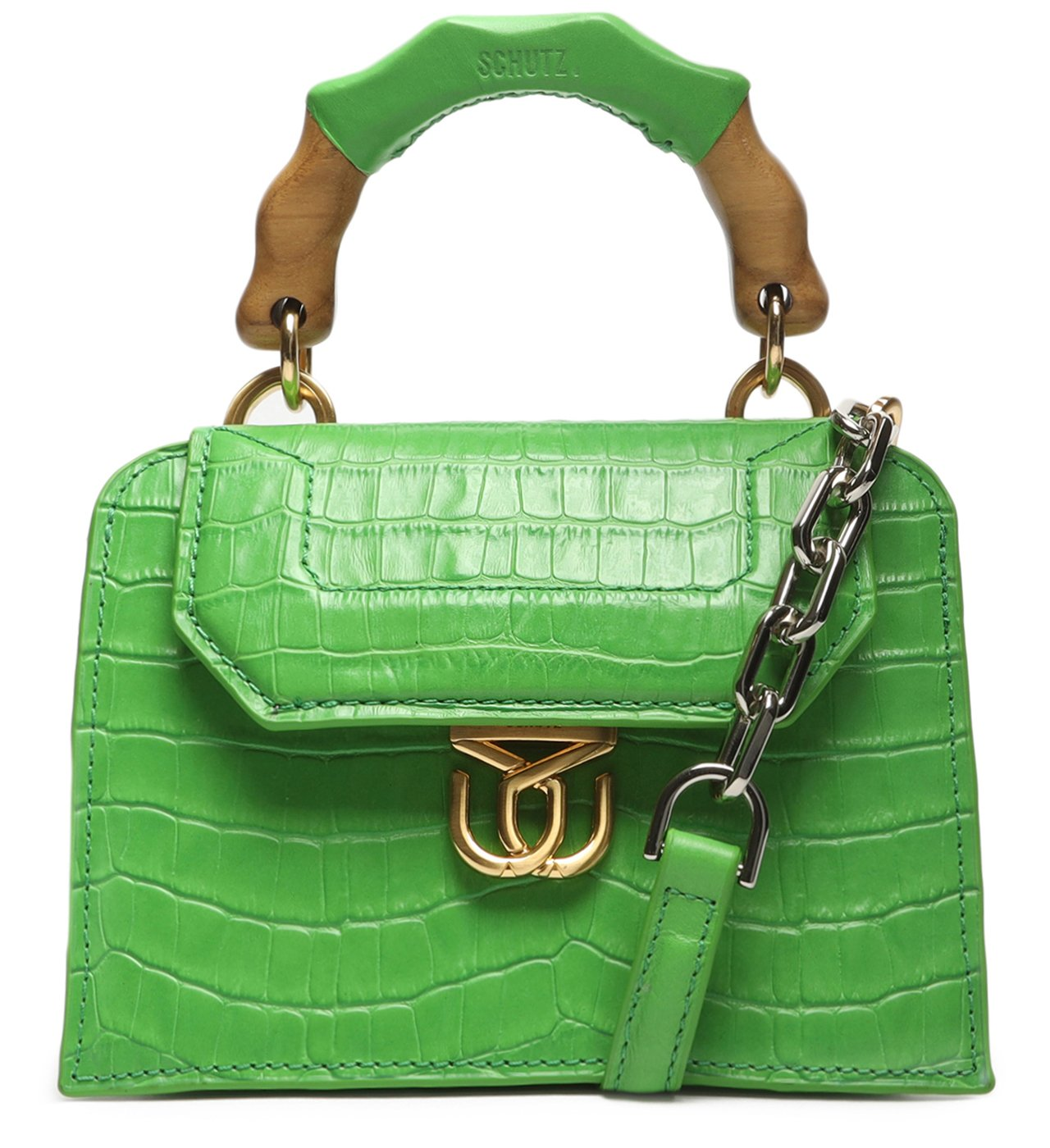 Crossbody Believe Bright Croco Green | Schutz