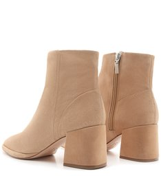 New Boot Evasê Suede Honey