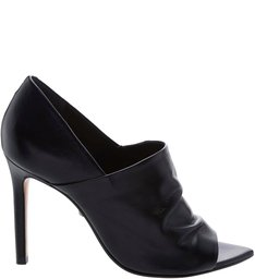 Open Ankle Boot Leather Black