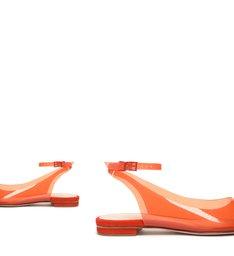 Flat Slingback Vinil Orange