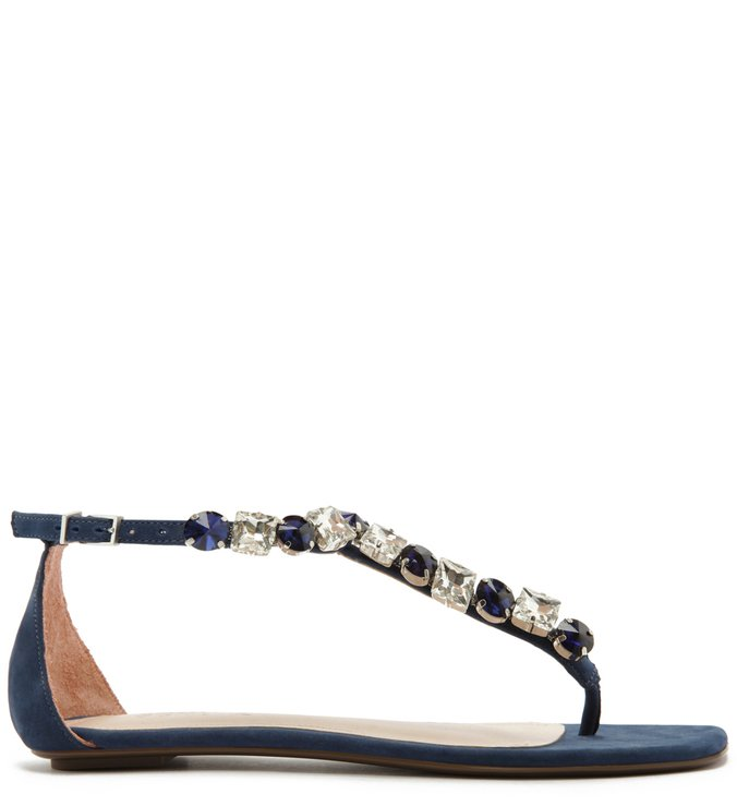 Sandália Rasteira String Glam Blue | Schutz
