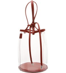 Bucket Bag Vinil Crystal Red
