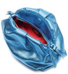Bolsa Maxi Clutch Avril Metalizada Azul