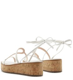 SANDÁLIA FLATFORM LACE-UP CORTIÇA WHITE