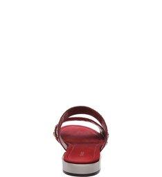 Rasteira Slide Studs Red