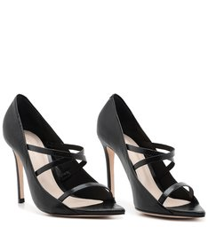 Scarpin Naked Vinil Black