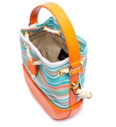 Mini Bucket Janis Stripes Tangerine