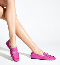 Sapato Mocassim Camurça Pink