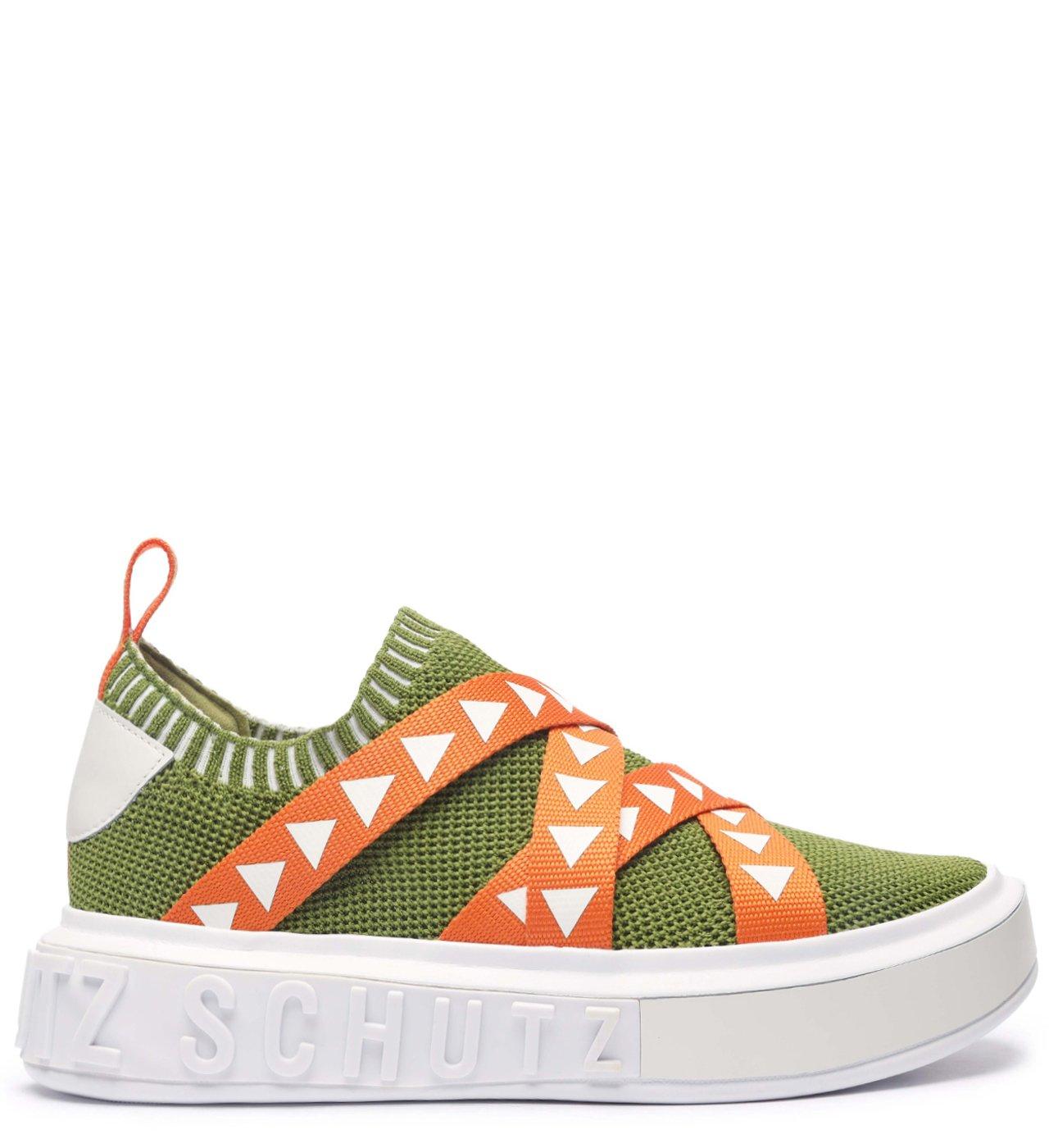 Tênis It Schutz Triangle Straps Green | Schutz