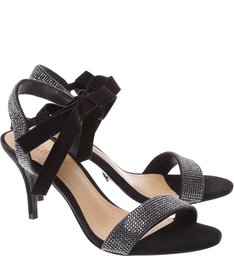 Sandália Shine Lace Up Black
