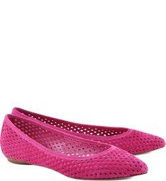 Sapatilha De Bico Fino Laser Cut True Pink