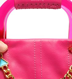 Bolsa Tote Média Treasure Couro Pink