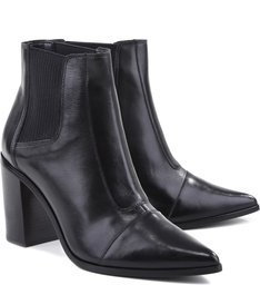 Bota Pointed Toe Black Leather