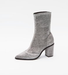 Skinny Boots Lurex Silver