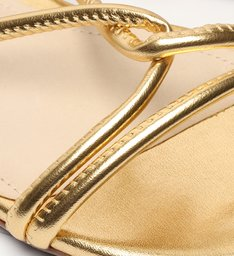 Sandália Rasteira Strings Gold