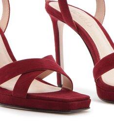 Sandália Salto Nobuck Red