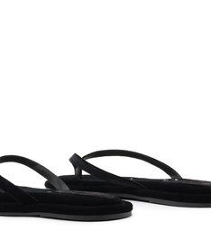 [On Demand] Homewear Flat Flip Flop Ava Velvet Black
