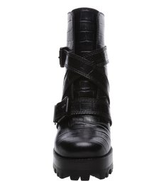 Combat Boot Croco Black