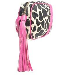 Bolsa Tiracolo Pequena Kate Girafa Rosa