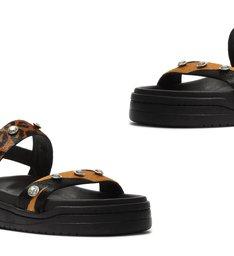 Sporty Sandal Animal Print Glam