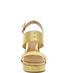 Sandália Meia Pata Bold Golden Croco