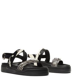 Sporty Sandal Zebra Print Glam