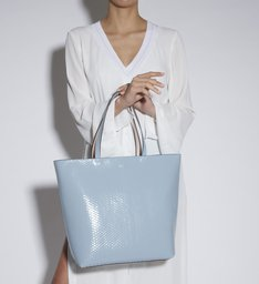 TOTE JENY REVERSIBLE BLUE & ROSE