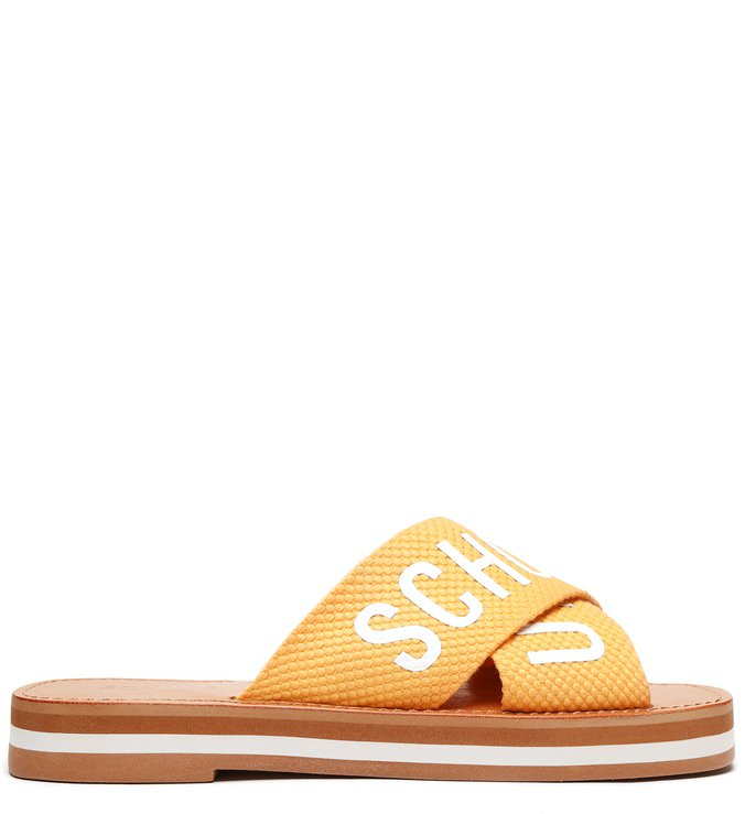 Rasteira Flatform Cross Yellow Gold