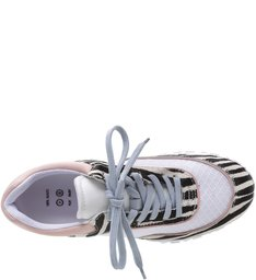 Tênis Lines Zebra Rose