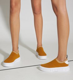 SNEAKER IT SCHUTZ BOLD KNIT ORANGE