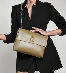 Shoulder Bag Double Face Green/Gold