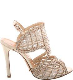 Sandália Texture Stiletto Platina