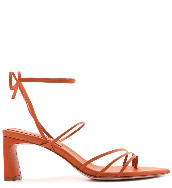 Sandália Strings Lace-Up Ocre | Schutz