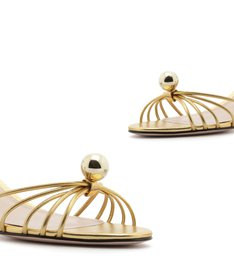 Sandália Block Heel Pearl Dourada