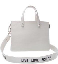 Tote Live Love Texture White