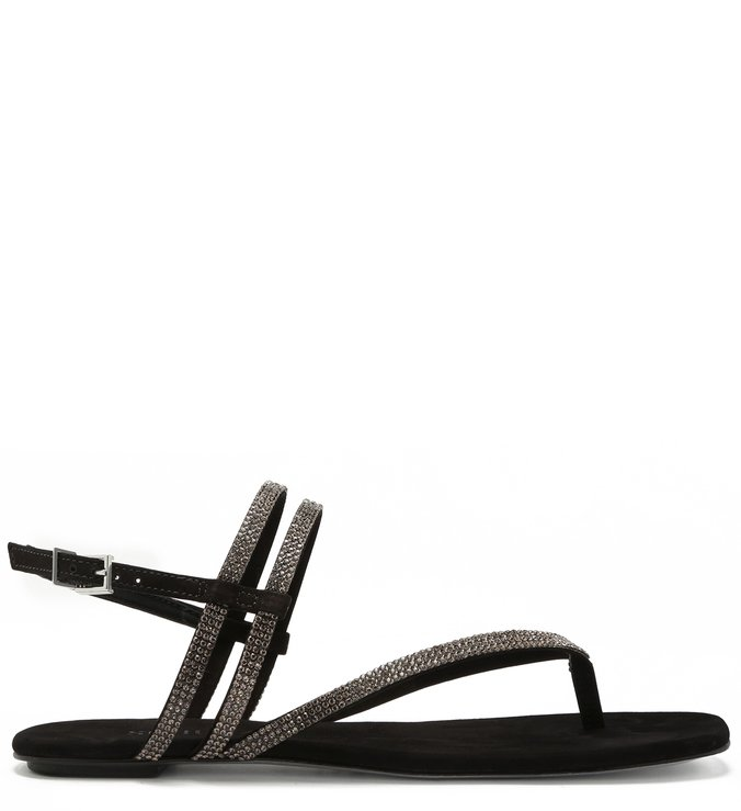 Sandália Rasteira Glam Flip-Flop Black | Schutz