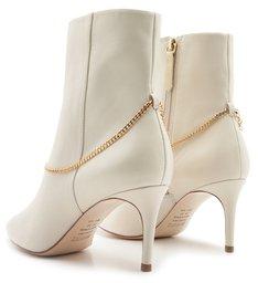 Bota Mid Heel Glam White
